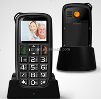 low cost elderly gsm mobile phone with cradle / desk charger