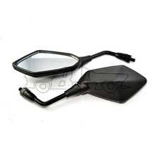 BJ-RM-053A Universal Black Metal Stem rear view mirror motorcycle with 10mm and 8mm thread