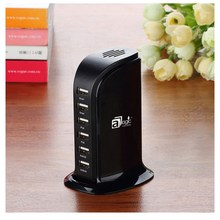 USA popular 5V 8A 6-port ABS ultra fast portable wall micro USB charger