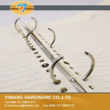 hot new products metal nickel plated 3 rings binder clip for book