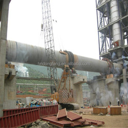 Long using life large scale lime/cement rotary kiln for sale