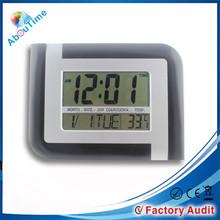 large calendar LCD wall clock