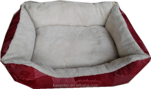 2015 100% polyester red square dog bed