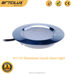 55mm hole size led downlight 2W, Recessed small led downlight chrome/black/white/silver