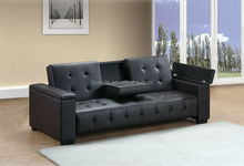 Classic Click Clack sofa bed with cup holder and storage
