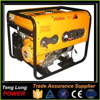 3kva low torque electric generator gasoline fuel small genset for sale