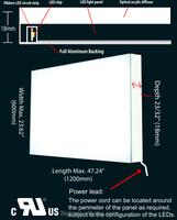 large LED panel for display fitting Germany Enovic plexiglas/Dupont reflective sheet