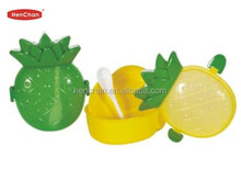 wholesale kid's colorful fruit shape plastic container