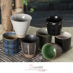 Gifts CH048 wind Japanese style soup swallow tea cup drinking cup ceramic cup tea tea pet