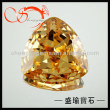 champagne fat triangle cut cubic zirconia(CZTN006)