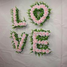 romantic artificial cheap price LOVE for wedding car decoration shop decoration