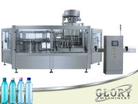 2015 new type of Full automatic 3-in-1 filling machine for 200ml to 2000ml bottles
