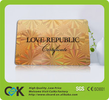 Custom CMYK printing credit card size gold foil business cards with cheap price