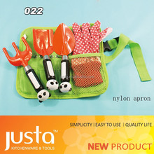 Hot Selling save 20% Plastic Garden Tool Set With Bag Green Hnadle Grasshopper Style