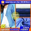 fabric textile 100% linen beautiful fabric linen fabric for woman shirt
