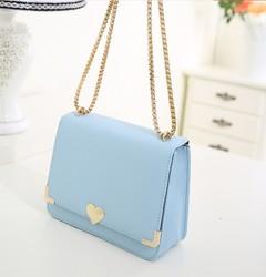 Cute heart clutch bag with strap korea fashion nine west handbag