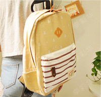 2014 fashion leisure canvas school bag teen backpack for girls
