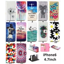 Multi design sleeve for iphone 6 with stand,leather case for iphone 6 hot sale