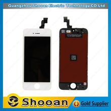Black White LCD Display & Touch Screen Digitizer With Full Assembly for iPhone 5s lcd display