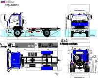 OFF ROAD 4x4 4WD 4*4 TRUCK CHASSIS 4,00 TONS