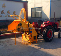 CE approved horizontal hydraulic feeding 3 point hitch wood chipper for sale