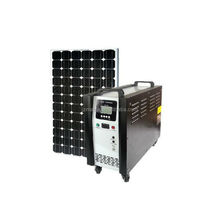 Portable solar power system for small homes with 400w panel