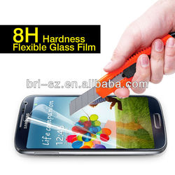 2013 New producte , 8H shenzhen factory tempered glass & anti-shock screen protector for S4, accept paypal