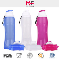 Collapsible silicone water bottle small business new idea product 2015