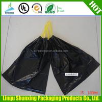 Cheap garbage packaging plastic car drawstring trash bag with high quality