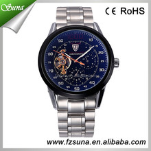 100% Factory Directly Tevise Brand Chronograph Tourbillon Stainless Steel Watch Men Automatic Skeleton Mechanical Luxury Watch