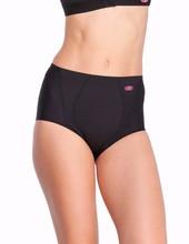 Yvette Women High-Waist Vintage Style Sports Panties 6085 - Support/Comfort Anti-bacterial Black Slim Women Briefs Underwear