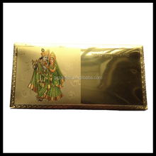 Hot sale indian banknote paper cheap gift card envelope