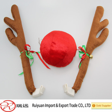 2014 New products Reindeer Antlers and Nose Car Decoration