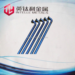 blue titanium spokes for bicycle parts in baoji factory price