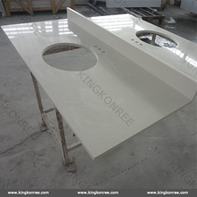 Solid surface commercial bathroom sink countertop