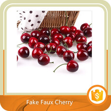 30Pcs Lifelike Fake Faux Cherry Artificial Fruit Model House Kitchen Party Decor