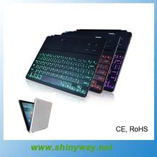 aluminio blutooth retroiluminación del teclado para ipad air