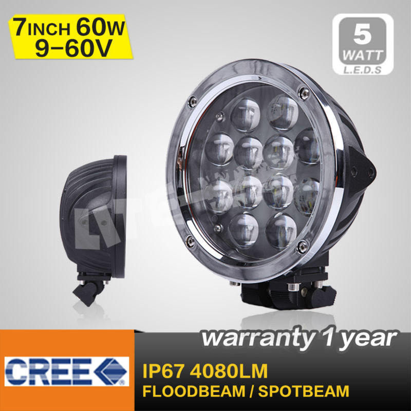 NEW! 7inch 60W LED DRIVING LIGHT,LED WORK LIGHT,LED OFF ROAD LIGHT