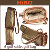 2014 new design Luxury 6 sticks canvas golf bag guangzhou manufacturer