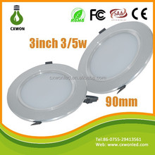 Slim led downlight mounted 3inch high efficiency 3w ceiling light led