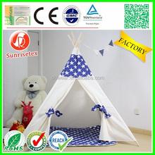 Eco de madeira tenda para as crianças lona tenda
