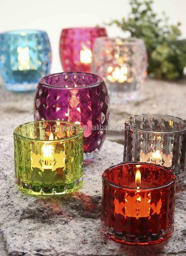 Colored Tea Light Candle Holder Glass Buy Tea Light