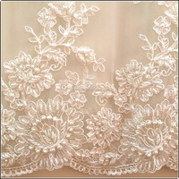 Handwork embroidery designs bridal beaded for lace wedding dresses
