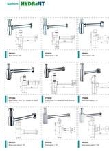 chrome plated basin usage anti Brass bottle trap