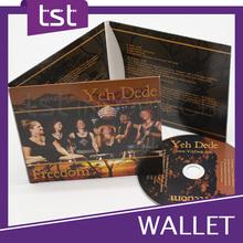 Personnalisé impression offset carton CD wallet
