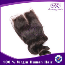 wholesale price hot sell virgin brazilian hair closure bleached knots loose wave