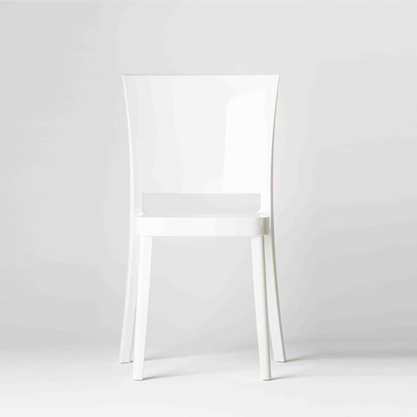 Chaise polycarbonate couleur lucienne blanche chaises de salle manger id du - Chaise transparente couleur ...