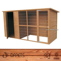 Wood Pet Product Dog House For Two Dogs DFD012