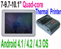 Cheap 7 - 10.1 inch Quad-core Android Tablet PC with Thermal printer or USB Thermal portable printer Tablet PC 3G sim