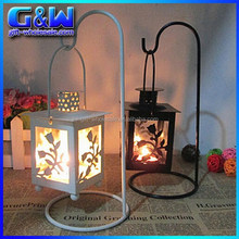 Cheap Wedding Hanging Candlelight Table centerpieces Metal wrought iron Candle Holder Lantern for Christmas decor